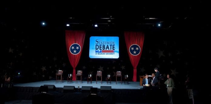 2010 Gubernatorial Debate Stage