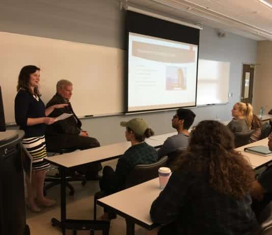 Mental Health Week Event on Campus in a Classroom in the Janet Ayers Academic Center Classroom