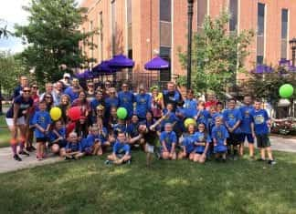 Students pose for a picture before the Fun Run began.