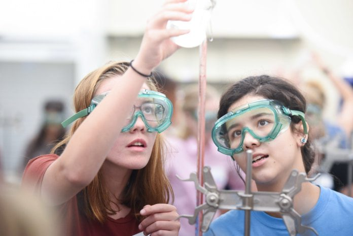 Students participate in the Women in Science Symposium held on Belmont's campus