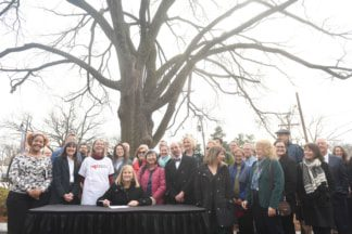 Mayor Barry to Sign New Executive Order to Help Preserve, Grow Countywide Tree Canopy at Belmont University Nashville, Tennessee, February 13, 2018.