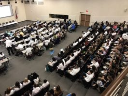 Participants are engaged at MeHarry during the interprofessional event