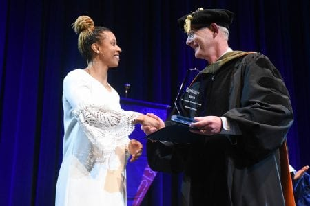 winner of the fannie may award receiving her award