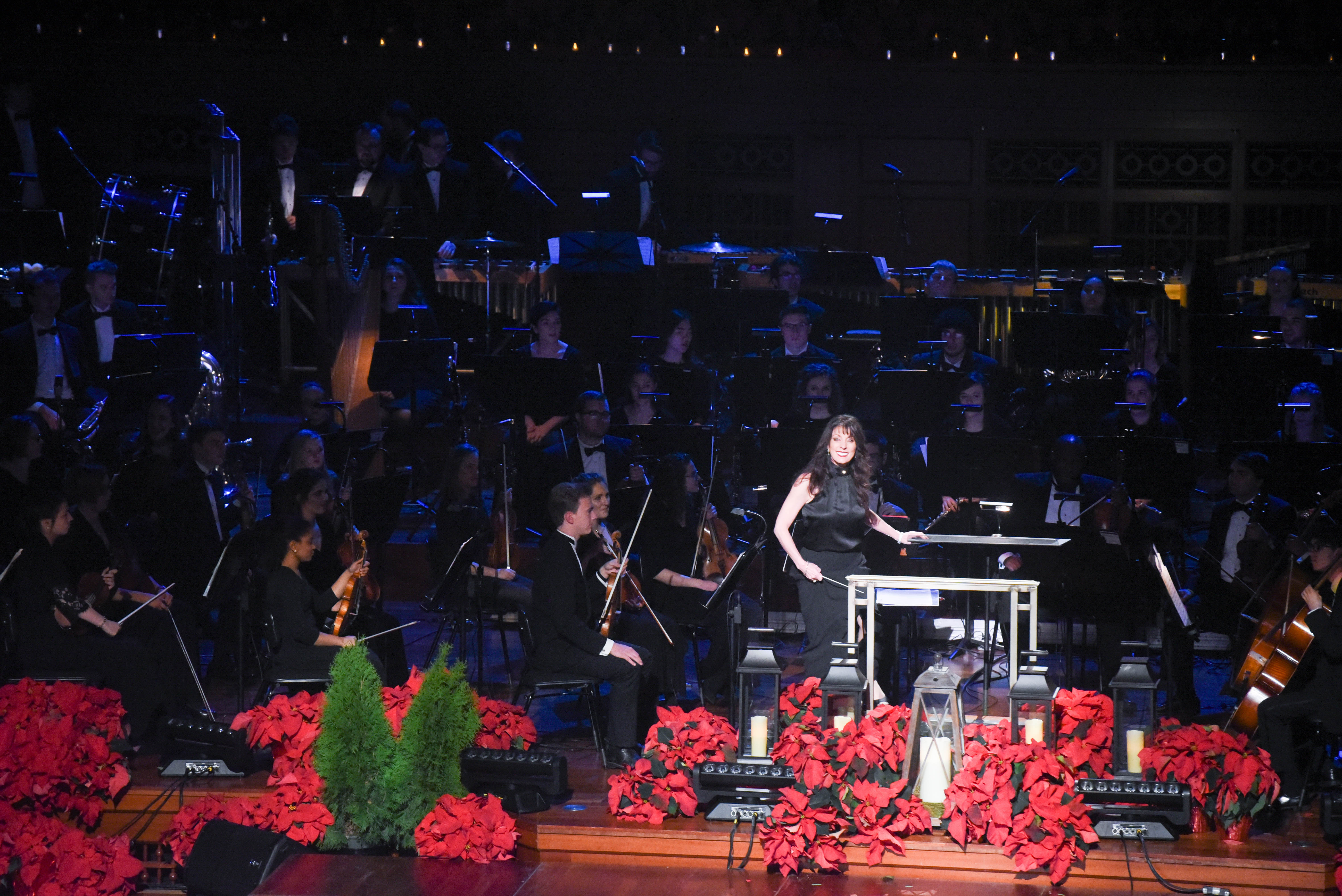 "Jo Lynn taking the stage at the Schermerhorn Symphony Center for Musical Theatre's performance of ""Snow"" from White Christmas for the 2018 taping of Christmas at Belmont"