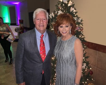Belmont President Dr. Bob Fisher with show host Reba McEntire