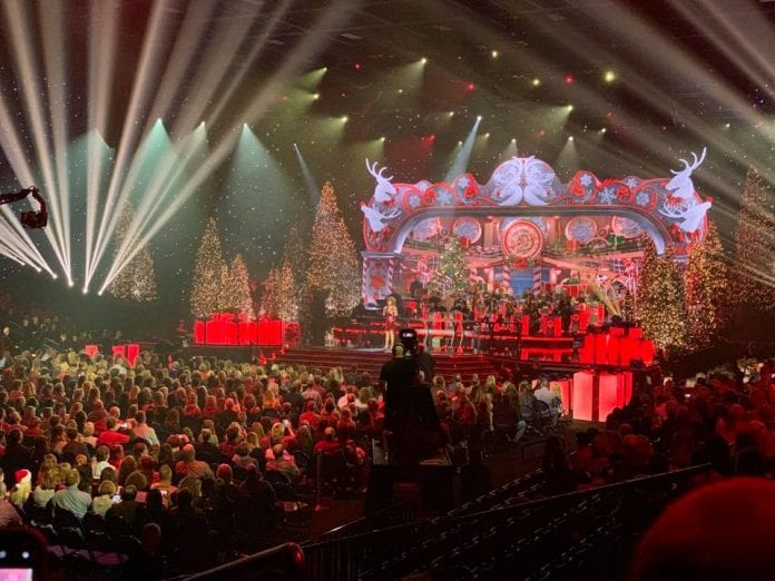 Reba McEntire at 'CMA Country Christmas' taping