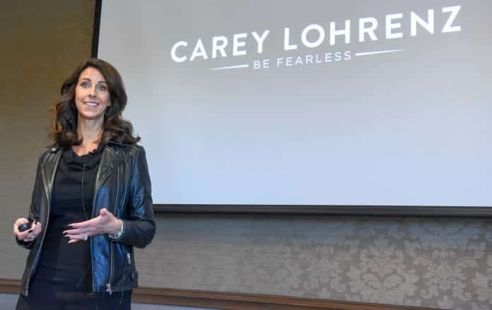 Carey Lohrenz at Belmont University in Nashville, Tennessee, October 24, 2018.