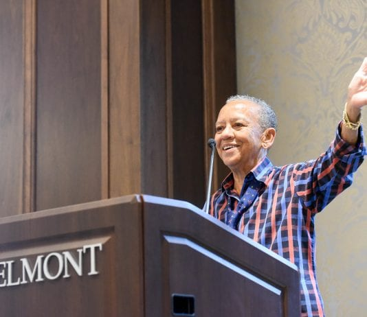 Poet Nikki Giovanni speaks to students at Belmont University 2018 Humanities Symposium