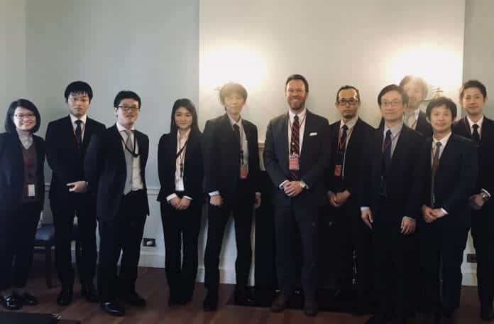 Dervan with Japan Embassy team