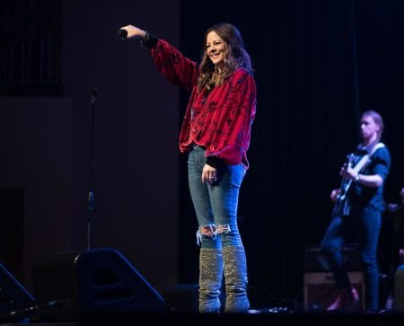 Sara Evans performs at School of Music Curtain Call Award