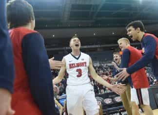 Belmont beats Austin Peay 83-67 at the OVC Tournament in Evansville, KY on March 8, 2019.