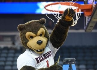 Bruiser cuts down bball net