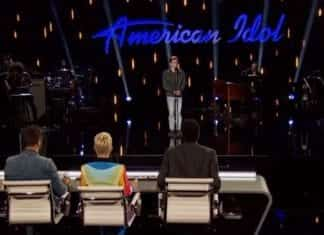 Walker Burroughs performs on American Idol