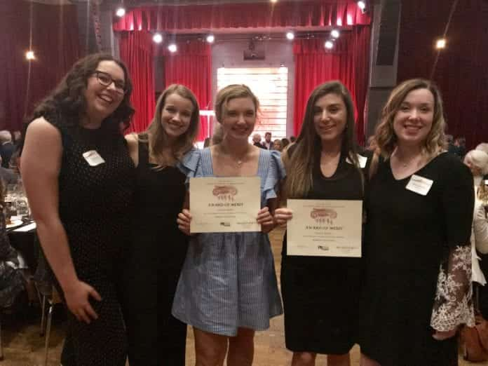 Students pose with their awards from PRSA Nashville