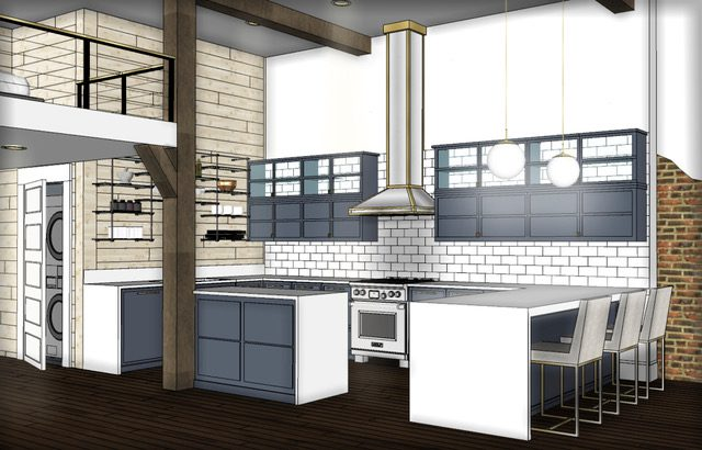 Rendering of Kitchen