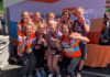 Belmont Team World Vision after running a half-marathon