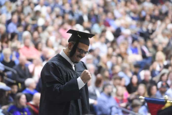 Spring Graduation 2019 at Belmont University in Nashville, Tennessee, May 4, 2019.