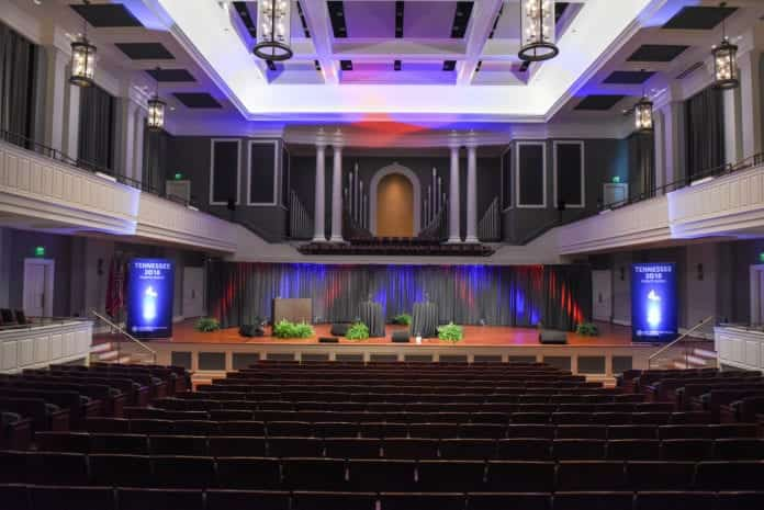 Gubernatorial Debates in McAfee at Belmont University in Nashville, Tennessee, June 19, 2018.