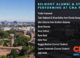 List of Belmont Students and Alumni Performing at CMA Fest