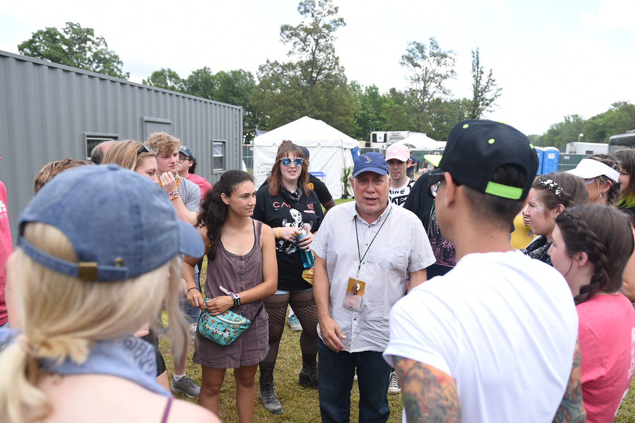 Belmont students with Bonnaroo founder Ashley Capps