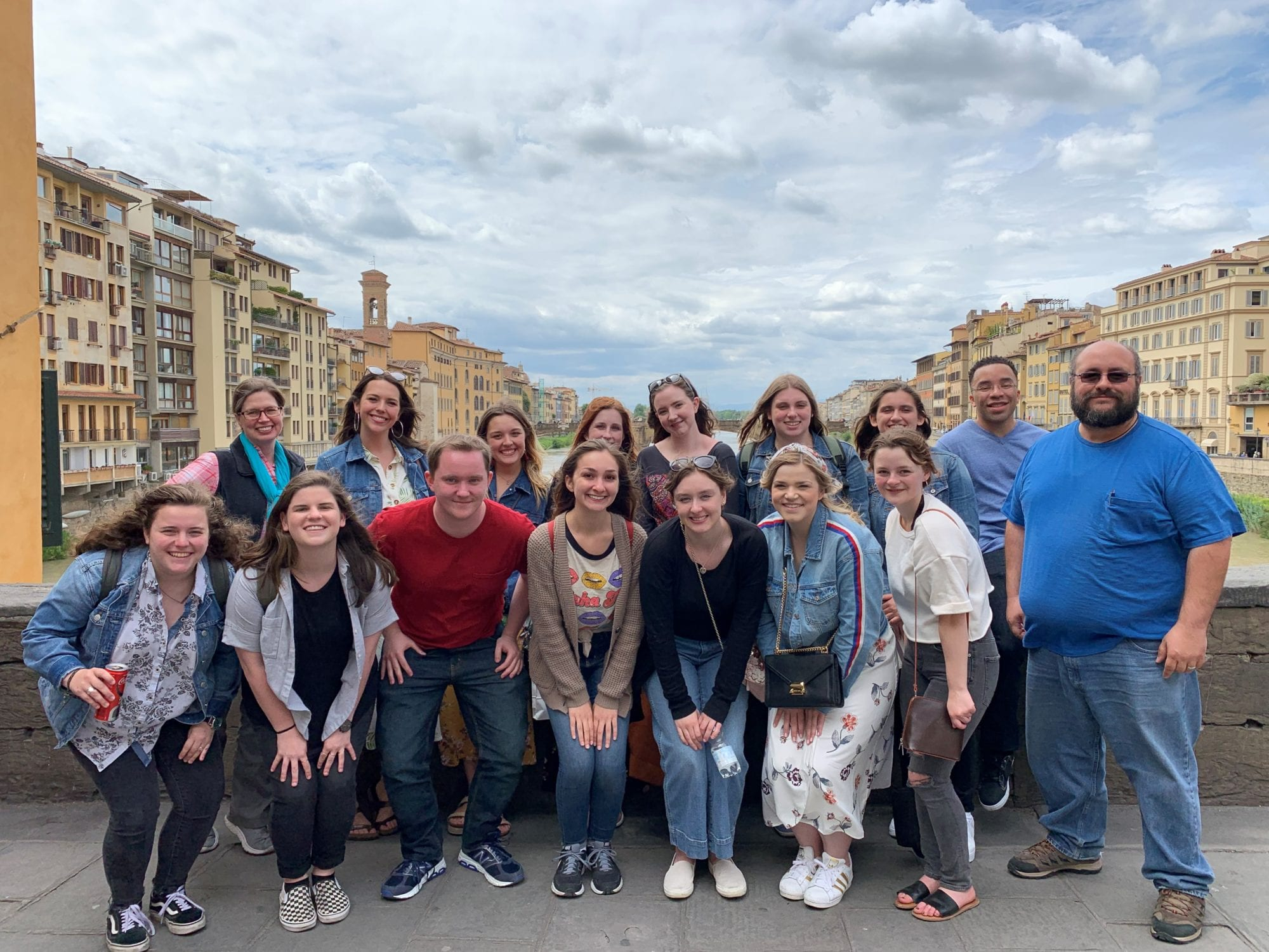 Group Photo of a study abroad trip in Italy