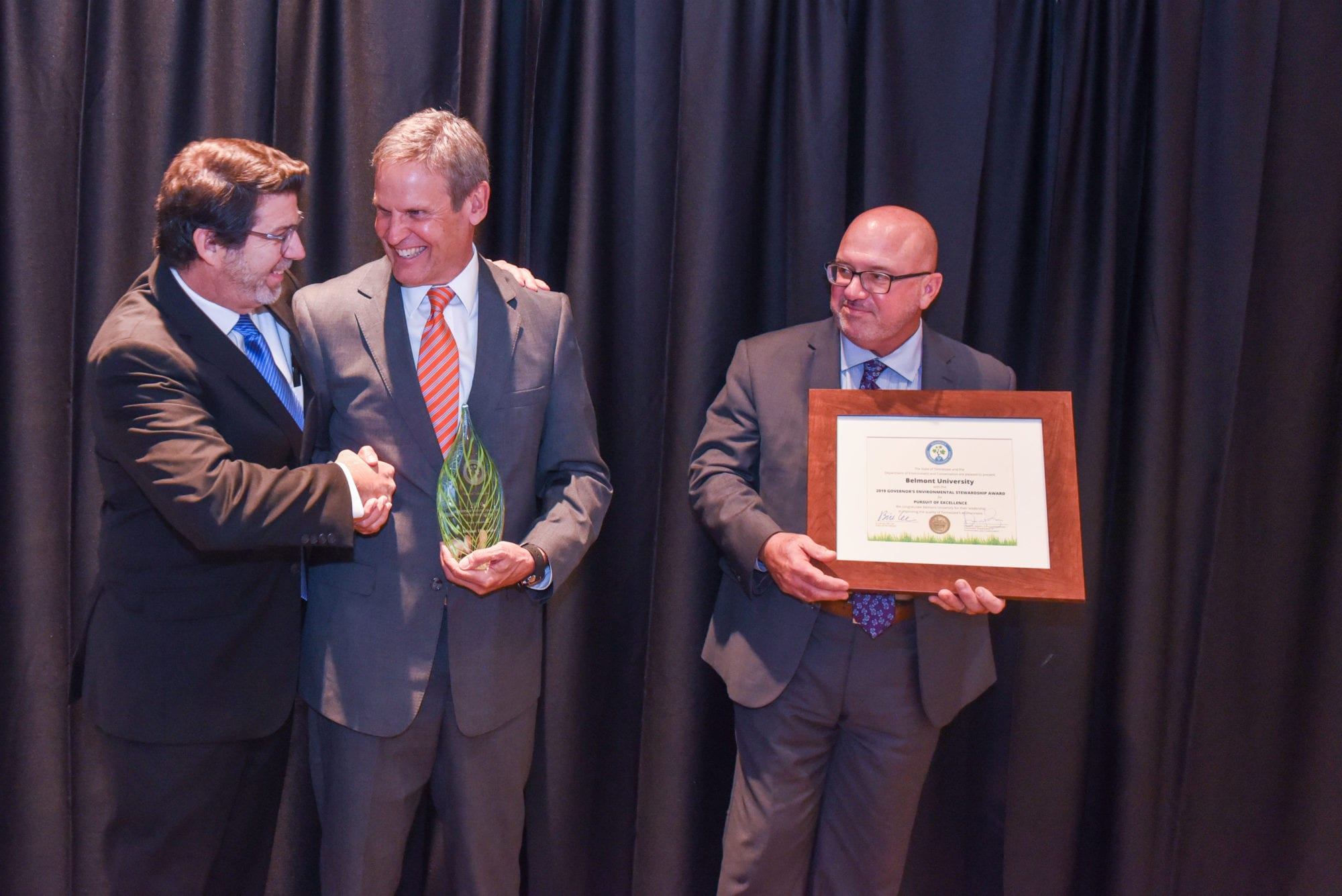 2019 Governor's Environmental Stewardship Award Winner (Pursuit of Excellence) with Gov. Bill Lee