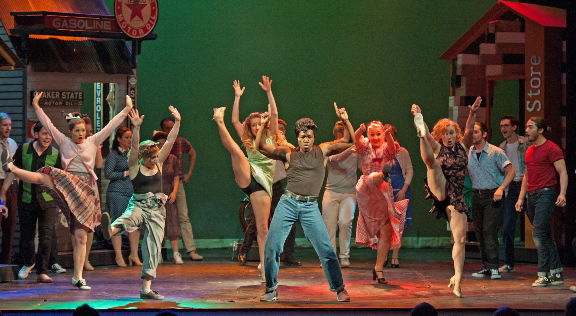 "Chris Lee performs in Belmont's ""All Shook Up"""