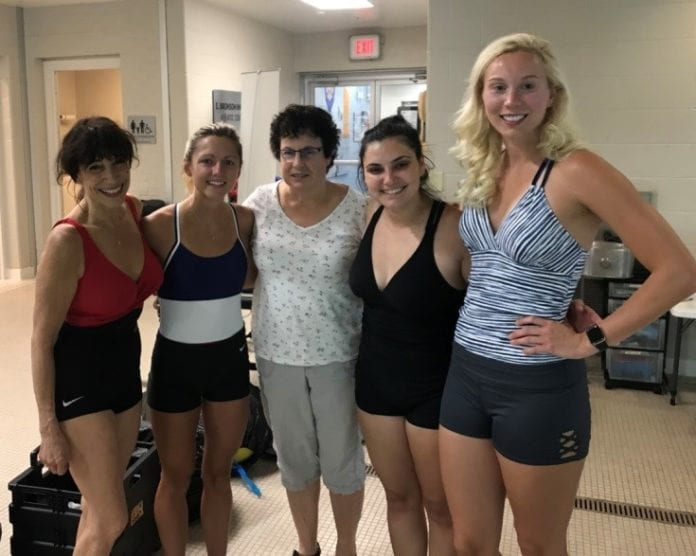 Department of Physical Therapy students with Dr. Nancy Darr