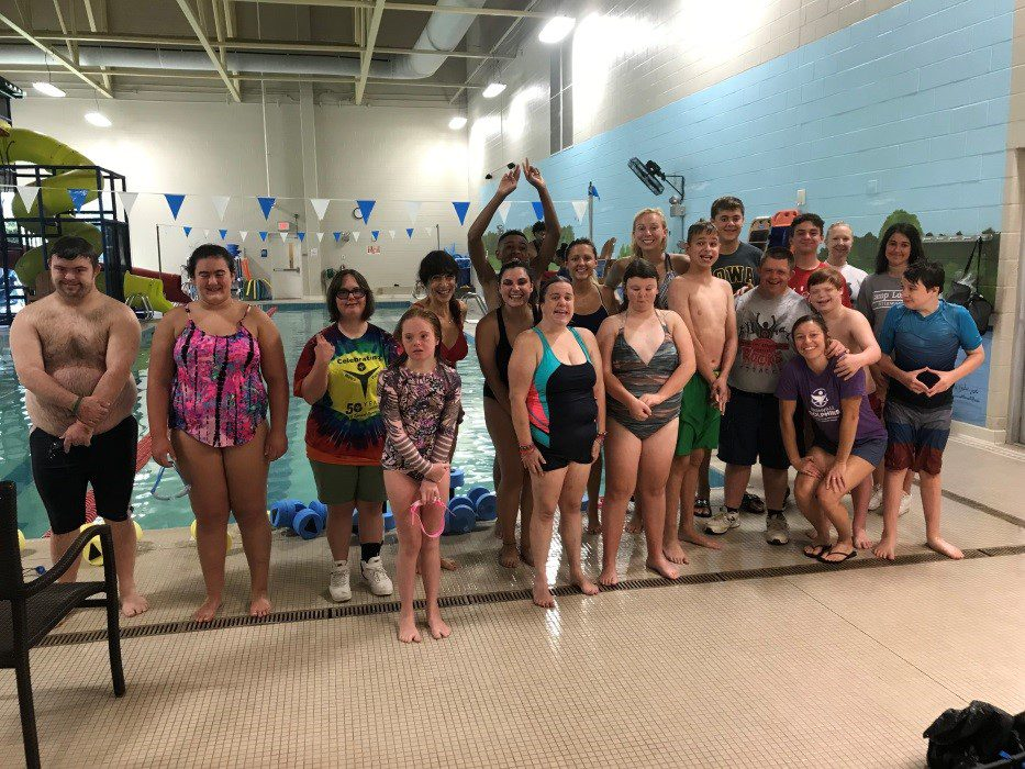 Nashville Dolphins campers participated in aquatic exercise with Belmont faculty and students.