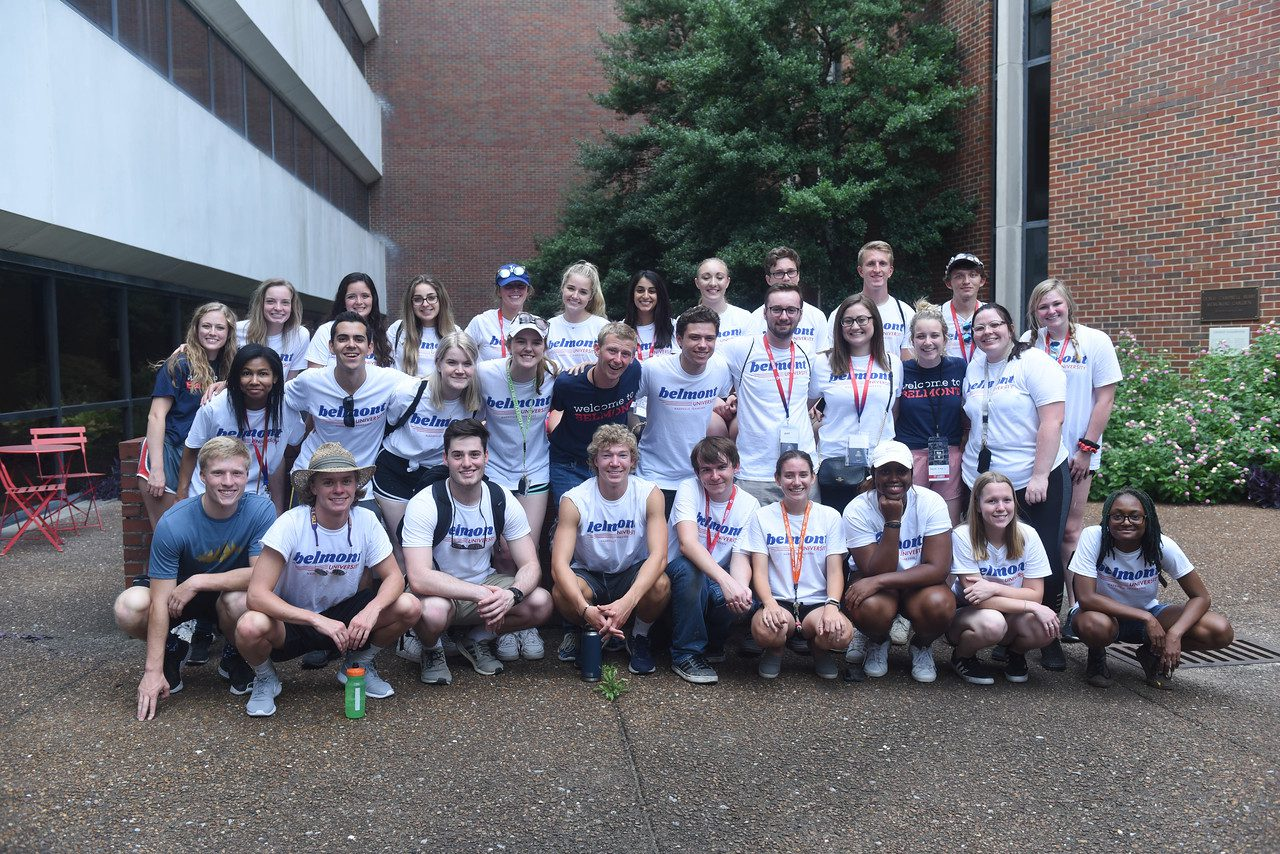 Group photo of Belmont students at Nashville General Hospital