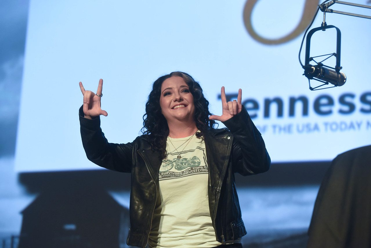 Ashley McBryde on stage