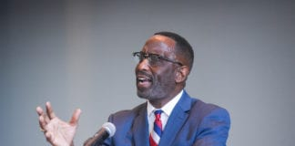 Dr. Kevin Cosby speaks in Chapel at Belmont University in Nashville, Tennessee, September 30, 2019.