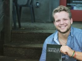 """Austin Lanning, Belmont University sophomore and author of """"Temporary Infinity"""""""
