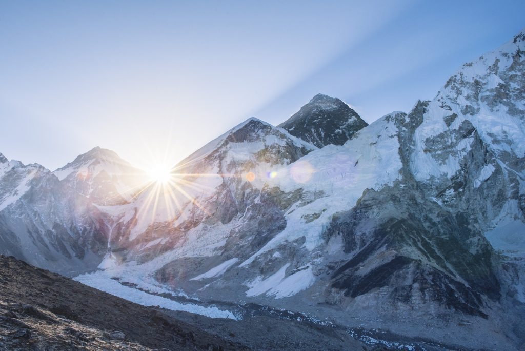 Sunrise view of Mount Everest captured by Jordan Dunn