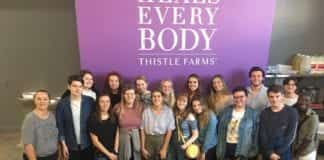 Global Leadership Studies students visit Thistle Farms