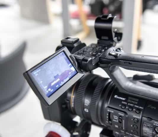 Stock motion pictures photo of camera on set