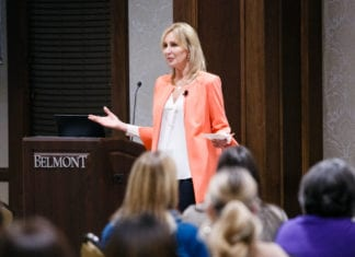 Betsy Myers speaks at Next Level Conference