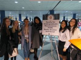 Belmont neuroscience and psychological science students at Society for Neuroscience Conference