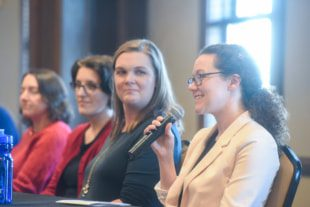 Panel discussion at Celebration of Women of Physical Science event at Belmont University in Nashville, Tennessee, November 4, 2019.