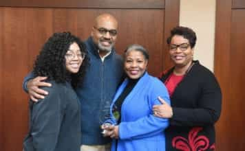 Angie Bryant with Family Members and Susan West