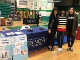 Students at Career Fair booth