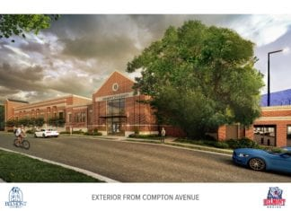 Rendering from Compton Avenue