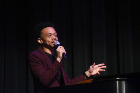 Dwan Hill performs after receiving Curtain Call Award
