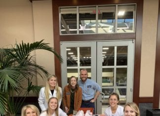 Belmont staff and students at flu clinic