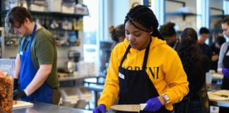Student Serves at Day of Service