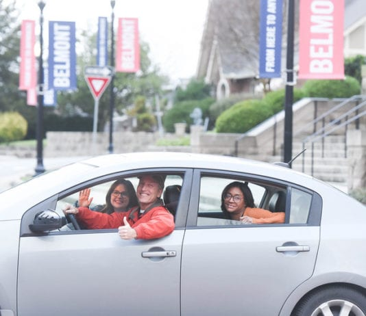 Three Employees carpooling to Belmont