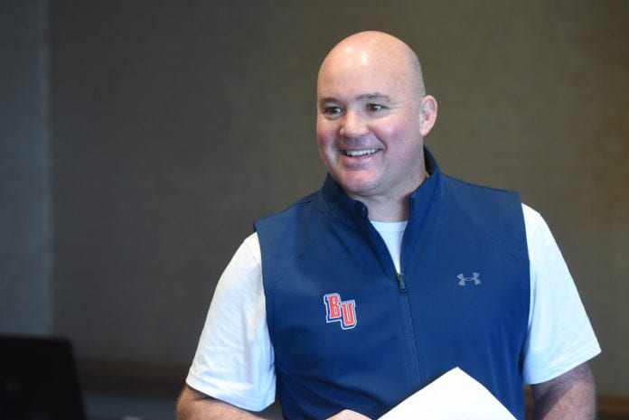 Leadership Lately with Coach Casey Alexander at Belmont University in Nashville, Tennessee, February 19, 2020.