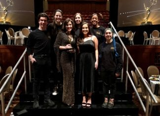 Students with Jennifer Duck at Emmys