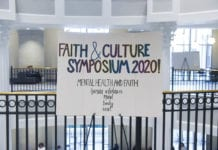 Faith and Culture Symposium Sign