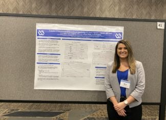 Pharmacy student Jillian Morgan at TPA Poster Presentation Contest